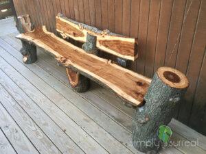 Bench Chainsaw Sculpture Oak