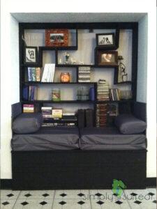 Bench & Tetris Piece Shelves Custom Build