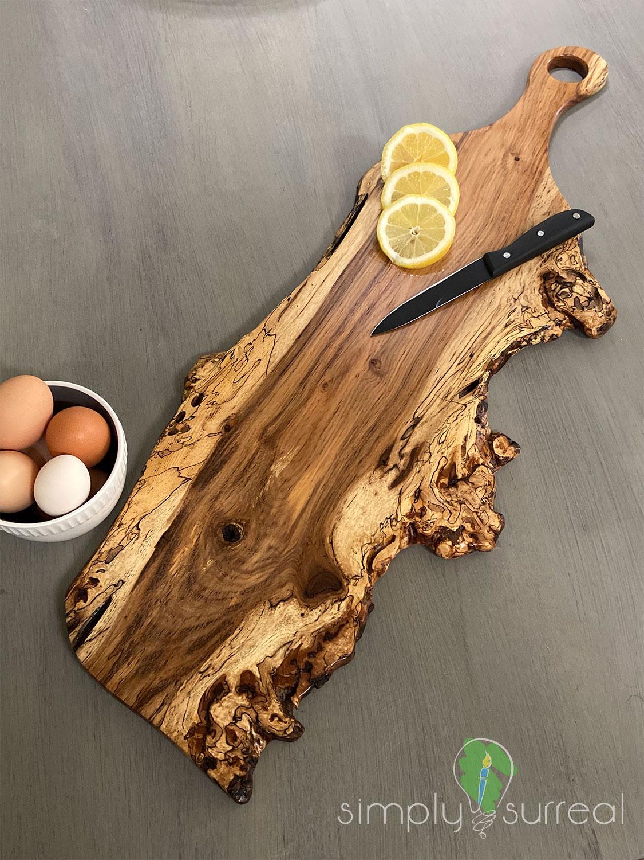 Cutting Board Spalted Oak Burrel