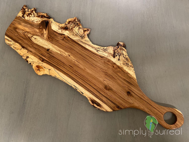 Cutting Board Spalted Oak Burrel 1