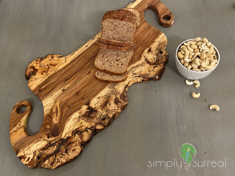 Cutting Board Spalted Oak Burrel Elephant 1
