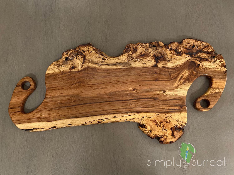 Cutting Board Spalted Oak Burrel Elephant 2