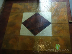 Floor Stained Stamped Concrete