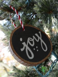 Ornament Tree Slice Joy