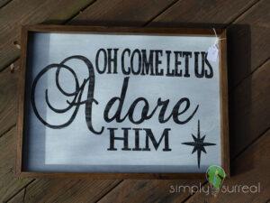 Sign Adore Him