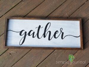 Sign Gather White