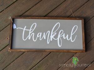 Sign Thankful