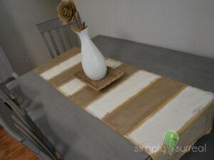 Table Runner Gold Stripe 2