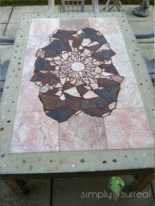 Table Built Custom Tile Stone Polished Concrete