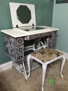 Vanity Singer Sewing Machine Refurbish