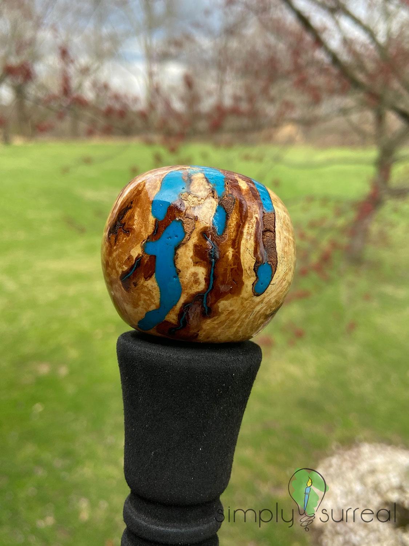 Walking Stick Handle Oak & Epoxy